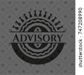 advisory realistic black emblem | Shutterstock .eps vector #747208990