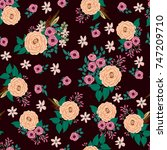 fashion seamless pattern with... | Shutterstock .eps vector #747209710