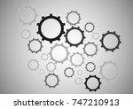 illustration of vector gear. | Shutterstock .eps vector #747210913