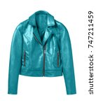 cyan light blue woman leather... | Shutterstock . vector #747211459