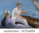 boating  by edouard manet  1874 ... | Shutterstock . vector #747216094