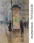 Parisian Street Scene  By Jean...