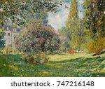 landscape  the parc monceau  by ...   Shutterstock . vector #747216148