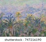 palm trees at bordighera  by... | Shutterstock . vector #747216190