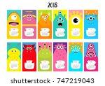 monster vertical monthly... | Shutterstock .eps vector #747219043