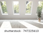white empty room with summer... | Shutterstock . vector #747225613