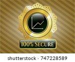 golden emblem or badge with... | Shutterstock .eps vector #747228589