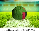 football ball with the national ... | Shutterstock . vector #747234769