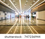 abstract blur people is... | Shutterstock . vector #747236944
