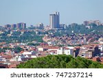 panorama of madrid residential... | Shutterstock . vector #747237214