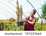 active senior gardening.... | Shutterstock . vector #747237664