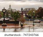 auburn   new york  usa. view of ... | Shutterstock . vector #747243766