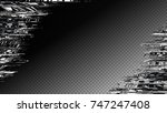glitch frame. display error... | Shutterstock .eps vector #747247408
