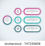 infographic template with 3... | Shutterstock .eps vector #747250858