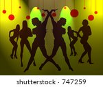 silhouette of sexy girls | Shutterstock . vector #747259