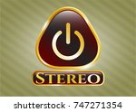 gold badge or emblem with...   Shutterstock .eps vector #747271354