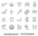 set of narcotics related vector ... | Shutterstock .eps vector #747276694
