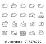 set of folders related vector... | Shutterstock .eps vector #747276730