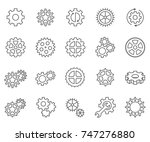 set of gears related vector... | Shutterstock .eps vector #747276880