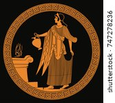 ancient greek goddess aphrodite ... | Shutterstock .eps vector #747278236