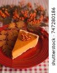 piece of traditional homemade... | Shutterstock . vector #747280186