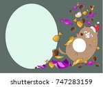 new year card kitty sweets   Shutterstock .eps vector #747283159