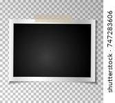 frame retro photo on... | Shutterstock .eps vector #747283606
