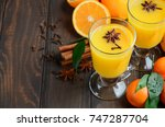 fall winter cocktail hot spicy...   Shutterstock . vector #747287704