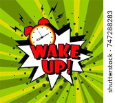 background with comic alarm... | Shutterstock .eps vector #747288283