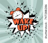 background with comic alarm... | Shutterstock .eps vector #747288286