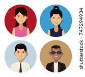 people in round icons | Shutterstock .eps vector #747294934