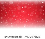 christmas snowflakes and... | Shutterstock .eps vector #747297028