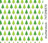 christmas seamless pattern with ... | Shutterstock .eps vector #747298570