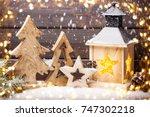 christmas greeting card un... | Shutterstock . vector #747302218