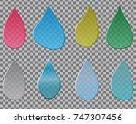 a set of drops of different... | Shutterstock .eps vector #747307456