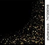 sparkling gold stars background ...   Shutterstock .eps vector #747308548