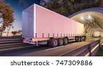 3d rendering of two semi... | Shutterstock . vector #747309886