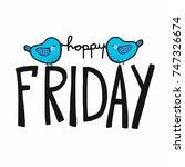 Happy Friday Word And Cute Bir...