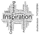 inspiration word cloud  vector | Shutterstock .eps vector #747328984