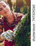 close up of senior woman... | Shutterstock . vector #747329260
