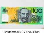 close up on australian dollar... | Shutterstock . vector #747331504