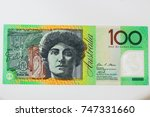 close up on australian dollar... | Shutterstock . vector #747331660