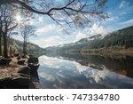 loch lubnaig  a part of the...   Shutterstock . vector #747334780