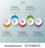 vector abstract 3d paper... | Shutterstock .eps vector #747338374