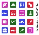 men's accessories icons. white... | Shutterstock .eps vector #747343294