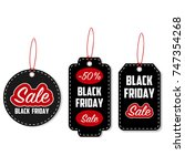 black friday sale tag set.... | Shutterstock .eps vector #747354268