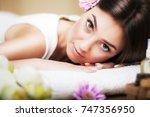 portrait of a beautiful girl in ... | Shutterstock . vector #747356950
