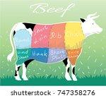 beef cuts | Shutterstock .eps vector #747358276