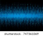 binary circuit board future... | Shutterstock .eps vector #747361069