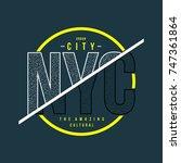 nyc urban typography t shirt ... | Shutterstock .eps vector #747361864